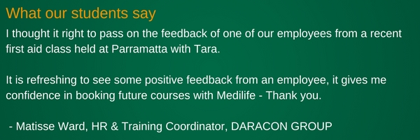 onsite first aid courses feedback