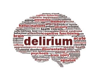 Delirium syndrome mental health icon design. Hallucinations symbol concept
